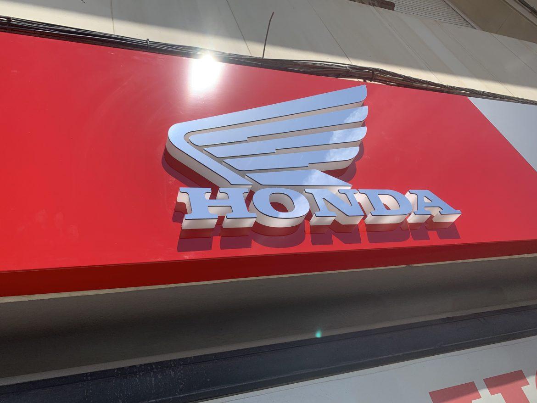 logotipo HONDA en dibond espejo